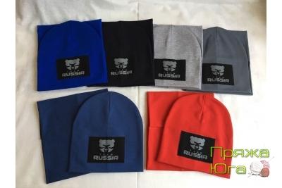 Шапка для мальчика в комплекте с шарфом