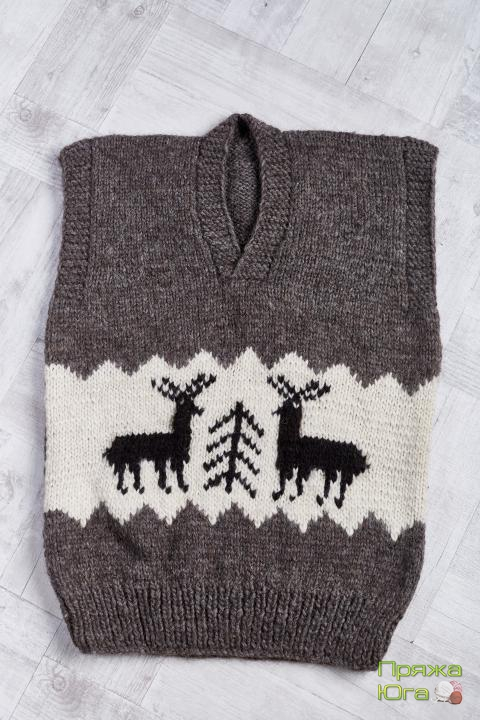 Безрукавка из натуральной овечьей шерсти
