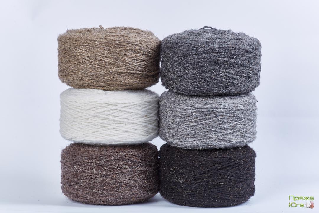 Пряжа шерстяная (носочная) для ручного вязания в мотках (в таблетках)