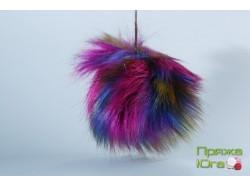 Помпон № 25 цвет попугайчик пестрый