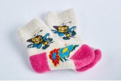 Носки шерстяные детские с пухом (на 5-7 лет)