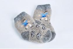Носки шерстяные детские с пухом (на 3-4 года)