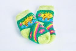 Носки шерстяные детские с пухом (на 1-2 года)