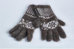 Перчатки женские пуховые