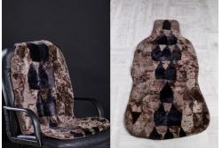 Накидка на сиденье автомобиля из натуральной овчины, сшитая из маленьких кусков